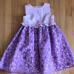 Gymboree Lavender Easter Dress Fancy 5T EUC Girls